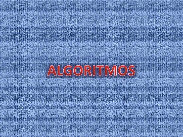 ALGORITMOS<br />