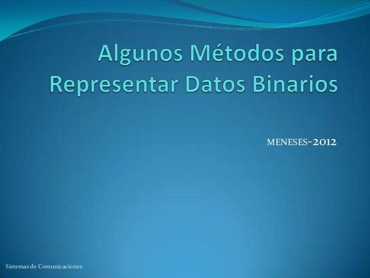 MENESES-2012Sistemas de Comunicaciones