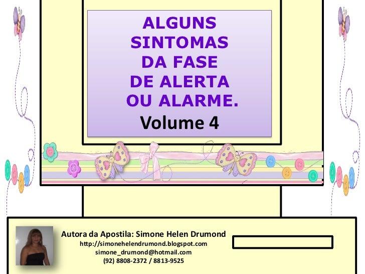ALGUNS                 SINTOMAS                  DA FASE                 DE ALERTA                 OU ALARME.             ...