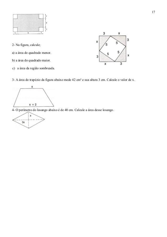 Alguns t picos de geometria for Um losango e interno a uma circunferencia de 6cm de raio