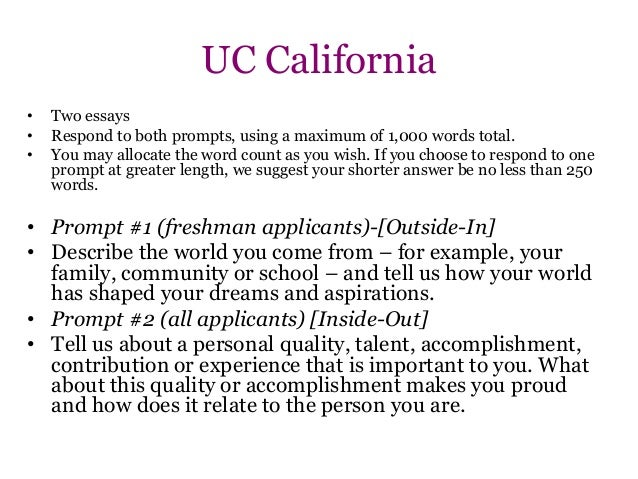 Example college essay prompts
