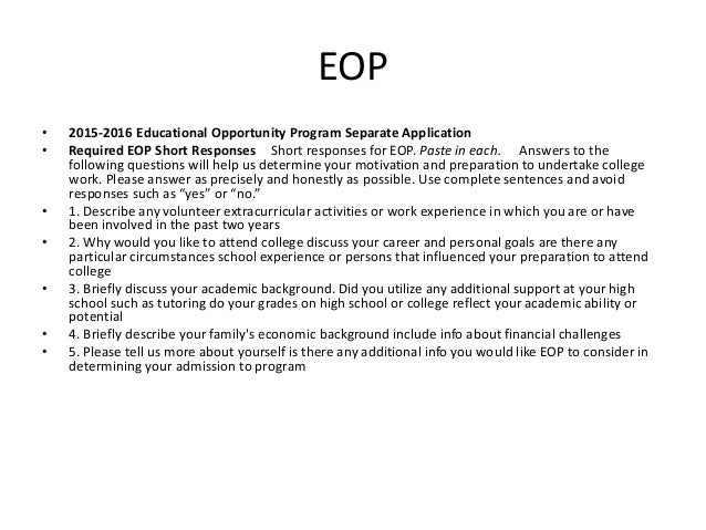 sample eop essay