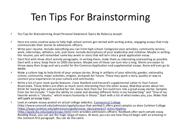 5 Fun and Unique Ways to Brainstorm Your College Essays
