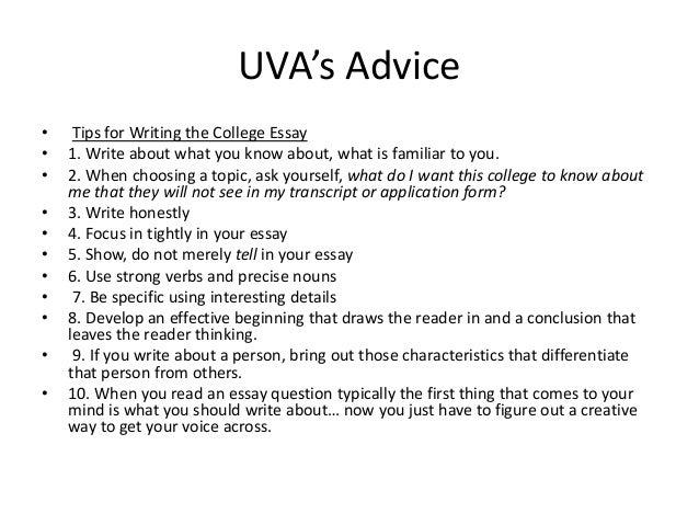 Uva college application essays
