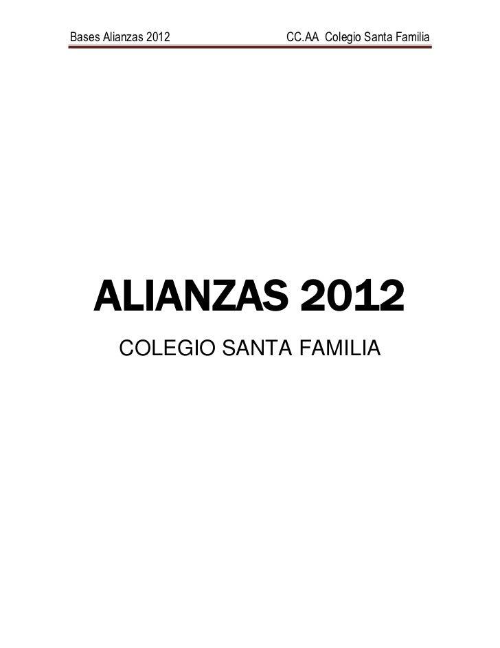 Alianzas 2012 cc.aa