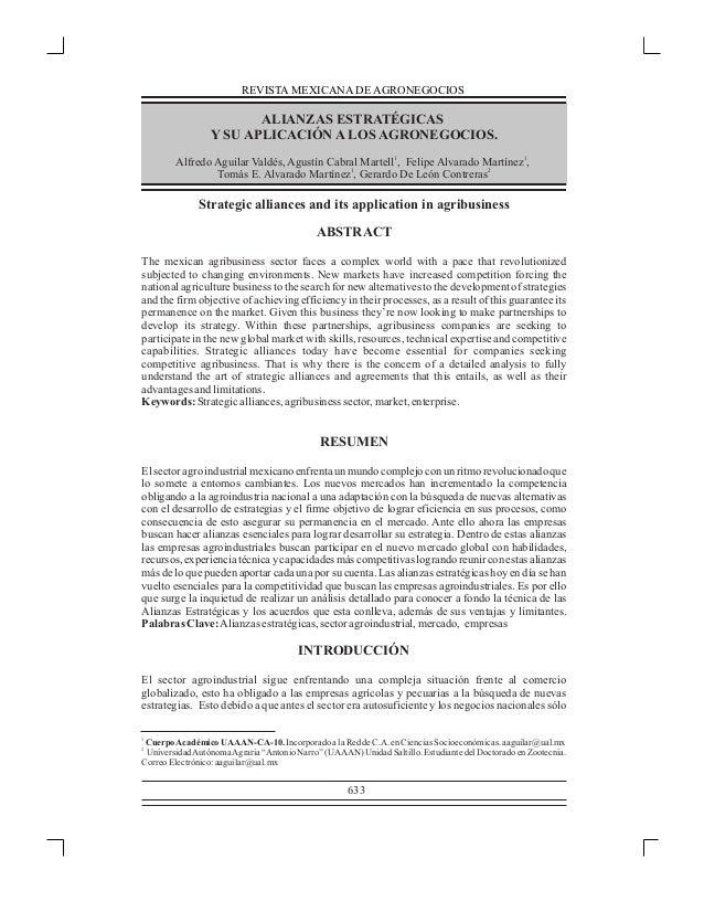 REDALYC - Alianzas estrategicas y agronegocios
