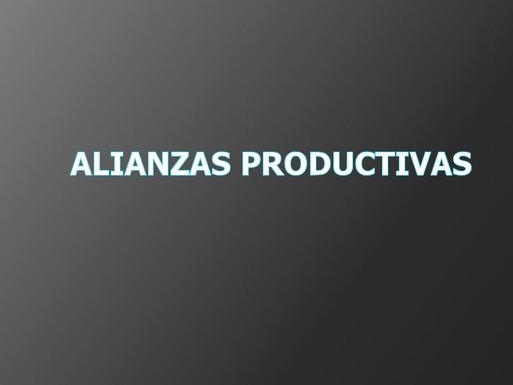 Alianzas productivas