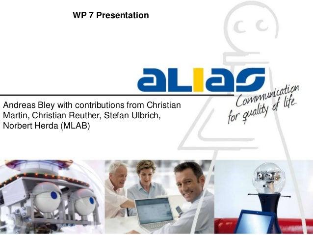 ALIAS WP7 Results