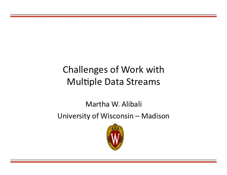 Alibali mult data streams a
