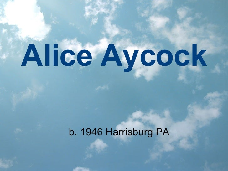 Alice Aycock