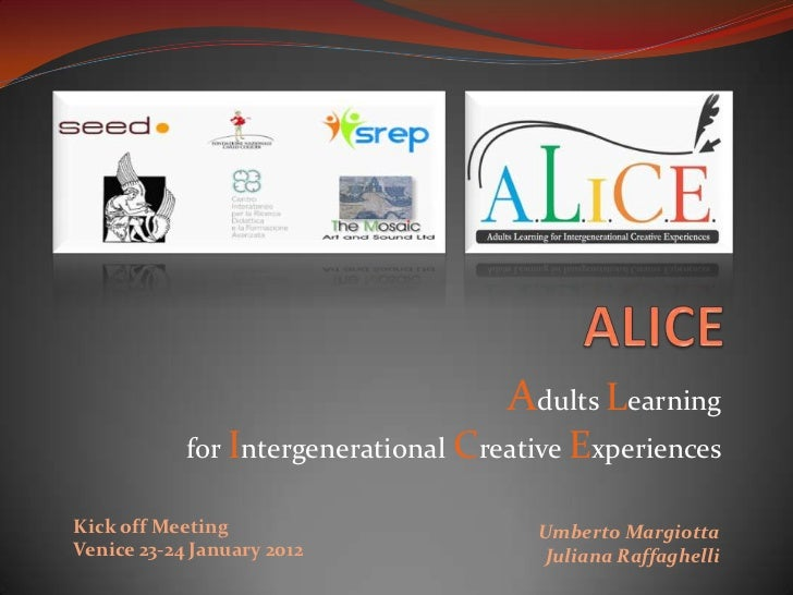 Alice kick off-meeting-venice