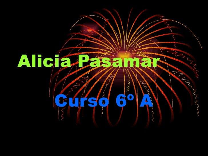 Alicia Pasamar Curso 6º A