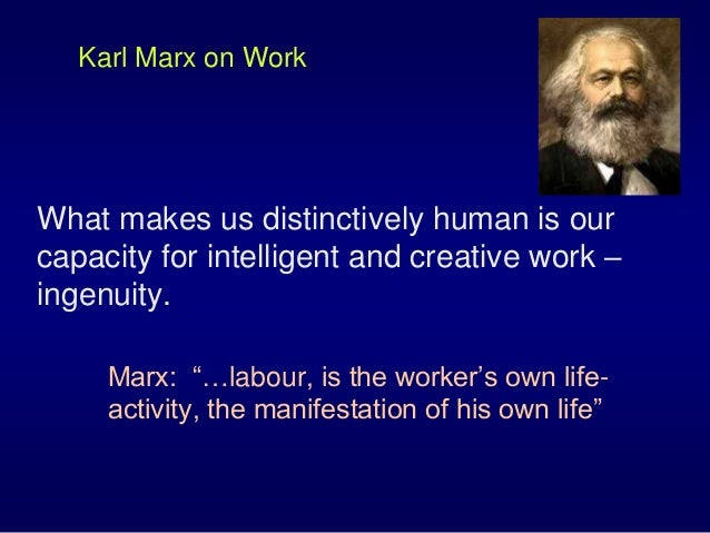 a discussion of karl marxs ideas on freedom and alienation Concerning the philosophies of john locke and karl marx marx describes freedom a human being contemplating himself but rather alienation from the world and.