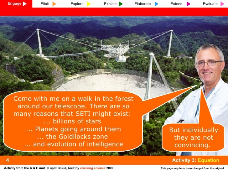 Come with me on a walk in the forest around our telescope. There are so many reasons that SETI might exist:  ... billions ...