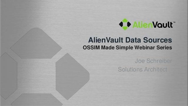 Configuring Data Sources in AlienVault