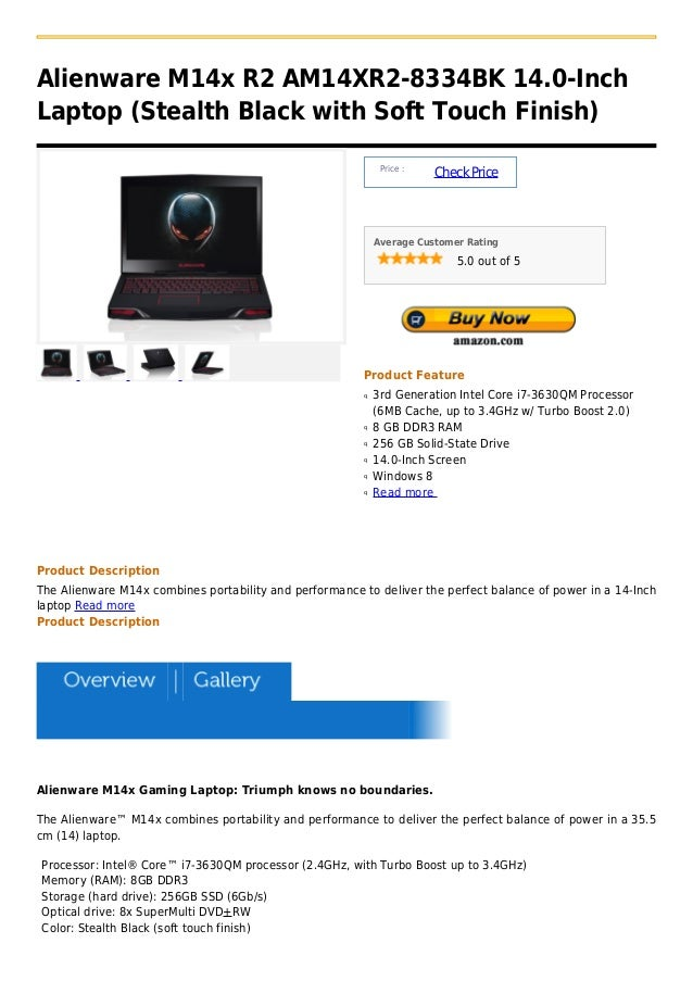 Alienware M14x R2 AM14XR2-8334BK 14.0-InchLaptop (Stealth Black with Soft Touch Finish)                                   ...