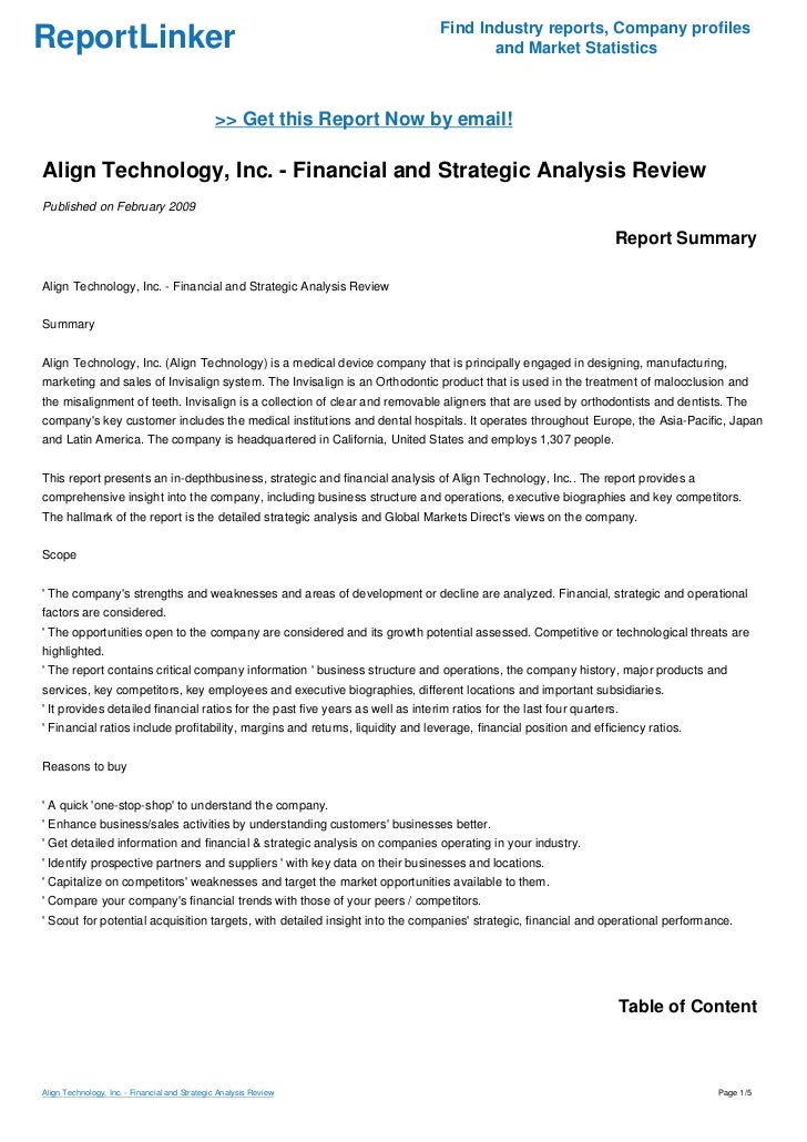 align technology inc essay Align technology, inc – mergers & acquisitions (m&a), partnerships & alliances and investment report align technology, inc – mergers & acquisitions (m&a.