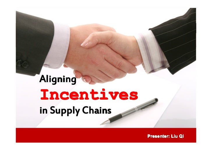 aligning incentives in supply chains We will write a custom essay sample on owens & minor case for aligning supply chain incentives  as well as aligning the incentives  other supply chains,.
