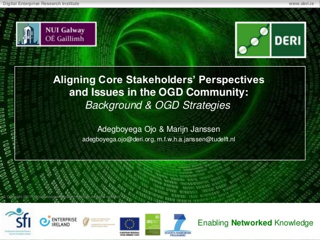 Aligning stakeholders' perspectives in Open Government Data Community