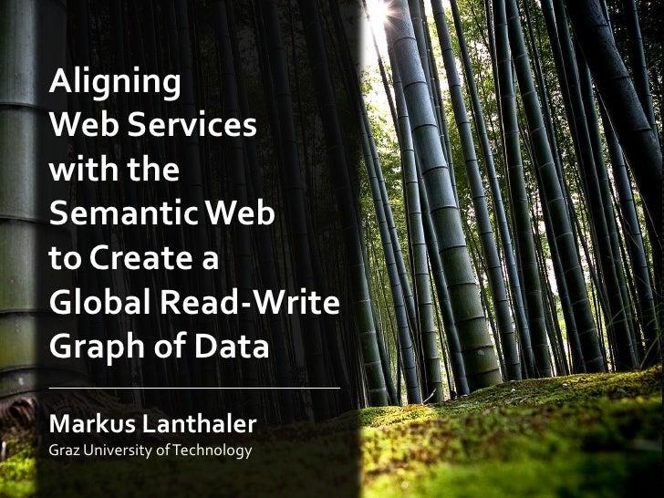 AligningWeb Serviceswith theSemantic Webto Create aGlobal Read-WriteGraph of DataMarkus LanthalerGraz University of Techno...
