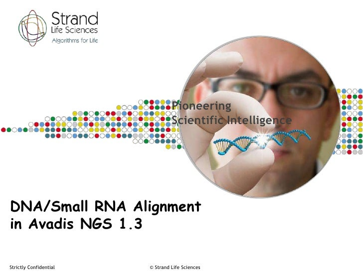 Pioneering                                 Scientific IntelligenceDNA/Small RNA Alignmentin Avadis NGS 1.3Strictly Confide...
