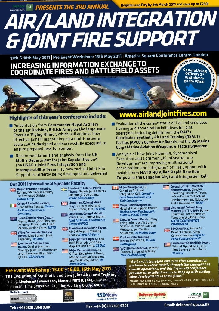 Register and Pay by 4th March 2011 and save up to £250!                           Presents the 3rd AnnuAl     AIR/LAnd InT...