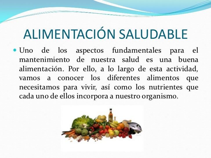 Dieta Saludable Para Ninos