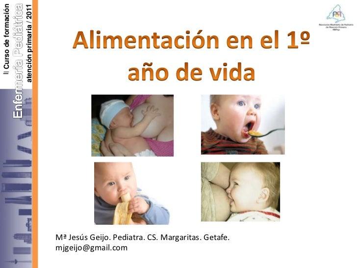 I Curso de formación                       atención primaria / 2010                                                  Mª Je...