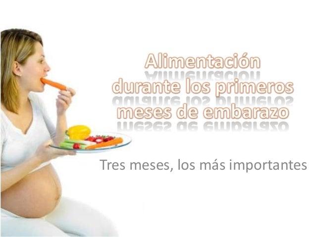Alimentación durante los primeros meses de embarazo (1)