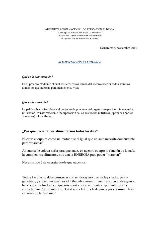 ADMINISTRACIÓN NACIONAL DE EDUCACIÓN PÚBLICA Consejo de Educación Inicial y Primaria Inspección Departamental de Tacuaremb...
