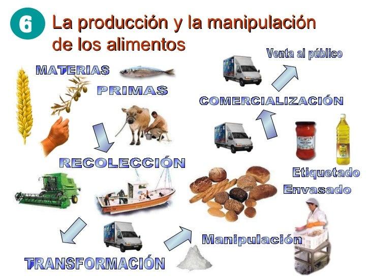 Alimentacion y nutricion for Procesos de produccion de alimentos
