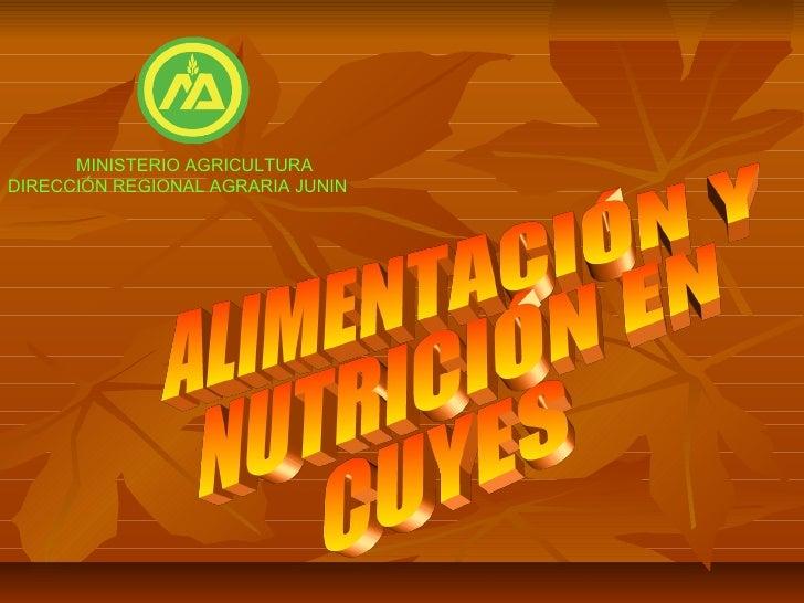 MINISTERIO AGRICULTURADIRECCIÓN REGIONAL AGRARIA JUNIN