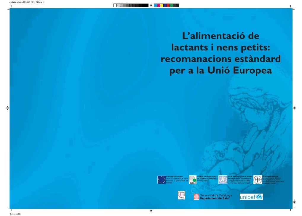 Generalitat de Catalunya                           Departament de Salut                      L'alimentació de             ...