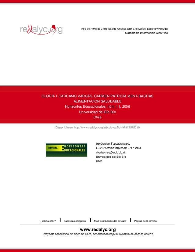Disponible en: http://www.redalyc.org/articulo.oa?id=97917575010 Red de Revistas Científicas de América Latina, el Caribe,...