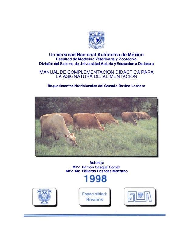 Universidad Nacional Autónoma de México Facultad de Medicina Veterinaria y Zootecnia División del Sistema de Universidad A...