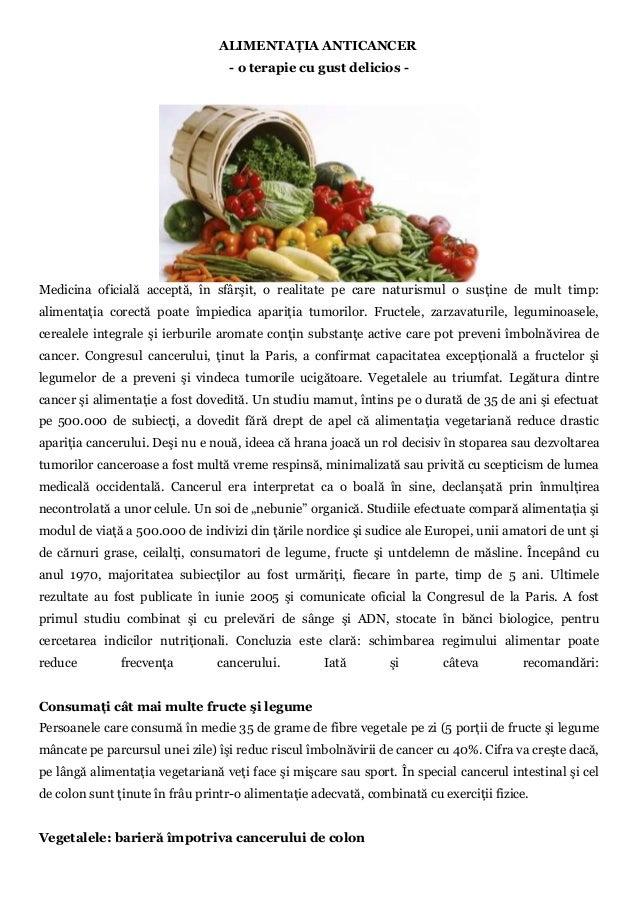 Alimentaţia anticancer