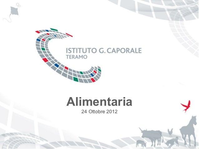 """Alimentaria Istituto """"G. Caporale"""""""