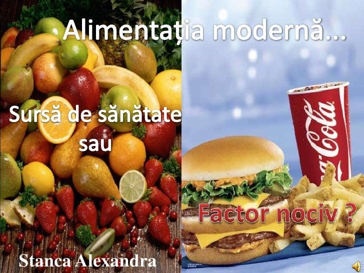 Alimentatia moderna
