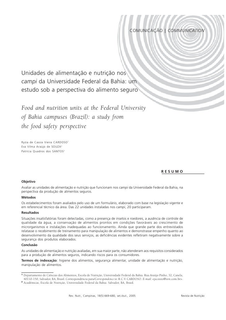 ALIMENTAÇÃO E NUTRIÇÃO   669                                                                                      COMUNICA...