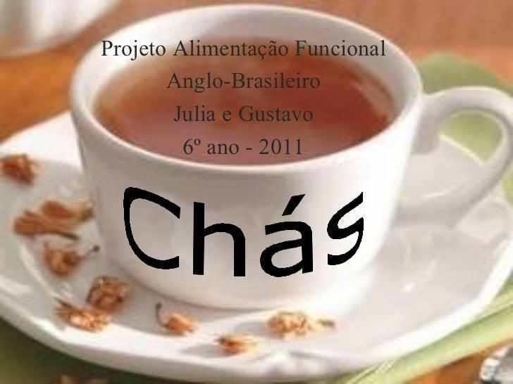 Projeto Alimentação Funcional       Anglo-Brasileiro        Julia e Gustavo         6º ano - 2011