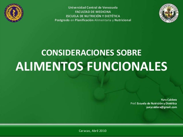 Universidad Central de Venezuela                  FACULTAD DE MEDICINA            ESCUELA DE NUTRICIÓN Y DIETÉTICA     Pos...
