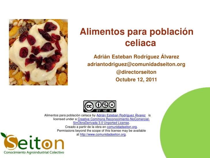 Alimentos para población                                celiaca                              Adrián Esteban Rodríguez Álva...