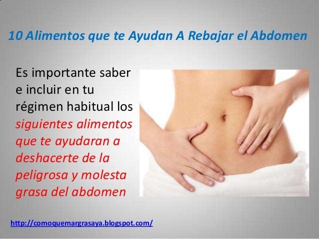 Alimentos que te ayudan a rebajar el abdomen