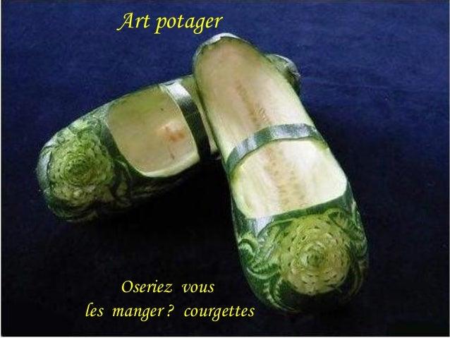Art potager  Oseriez vous  les manger ? courgettes