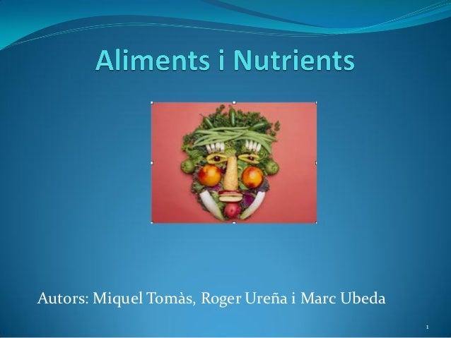 Autors: Miquel Tomàs, Roger Ureña i Marc Ubeda                                                 1