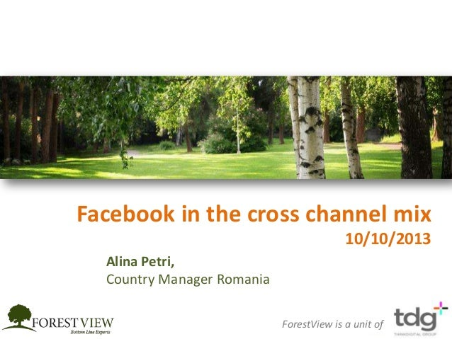 Facebook in the cross channel mix 10/10/2013 ForestView is a unit of Alina Petri, Country Manager Romania
