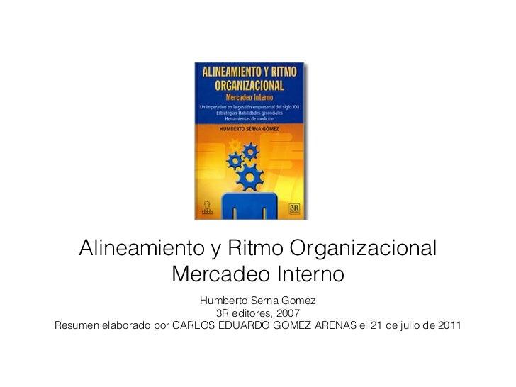 Alineamiento y Ritmo Organizacional             Mercadeo Interno                          Humberto Serna Gomez            ...