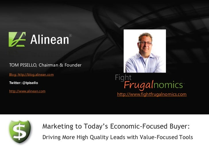 Demand Generation Tools Webcast: Drive more leads with Alinean value-marketing tools