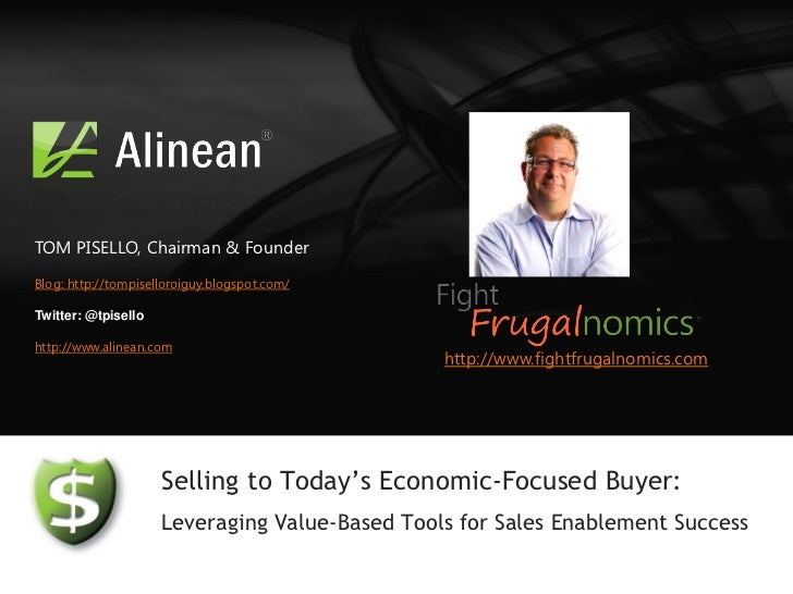 Sales Enablement Tools Webcast: Make sales more effective with Alinean value-selling tools