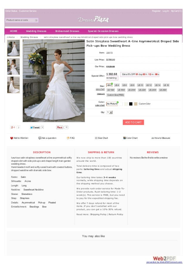 A Line Wedding Dresses With Pickups